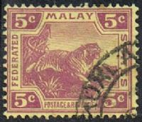 Federated Malay States SG61 1922 Definitive 5c good/fine used